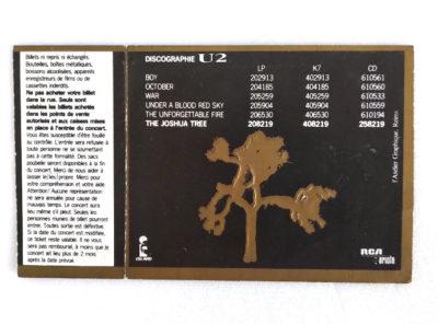 U2 – Ticket Place de concert «Joshua Tree Tour» – 1987