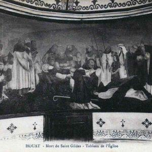 CP Eglise de Houat Mort de Saint Gildas