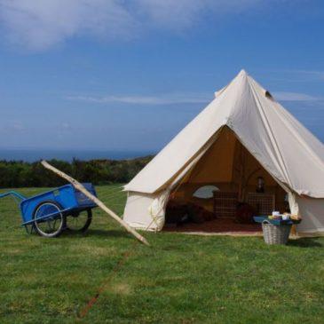 Hébergement insolite à Houat en tente nomade, en espace naturel