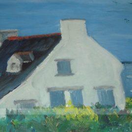Peinture huile Jean Louis Le Gurun Ile de Houat