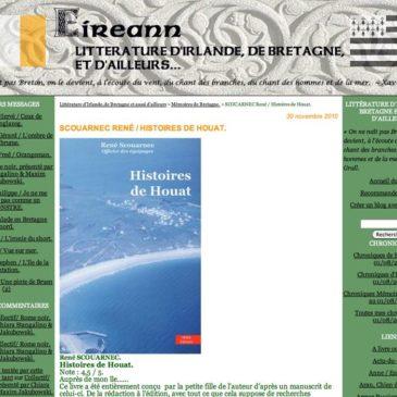 Sur son blog Eireann, Yvon Boëtte parle d'Histoires de Houat