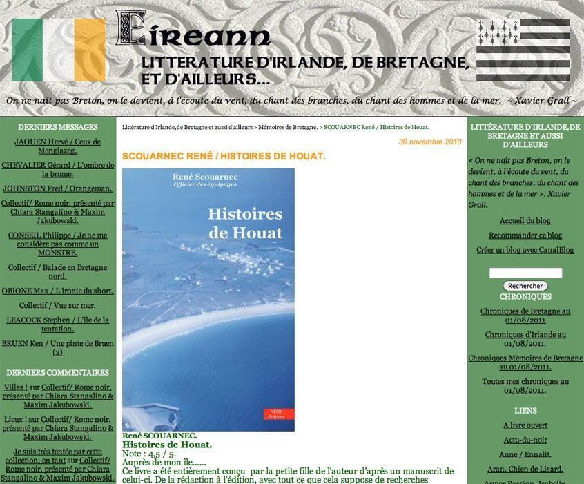 Blog Eireann Histoires de Houat