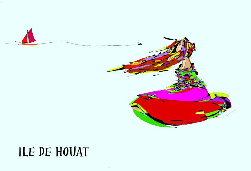 Carte Ile de Houat Leti Le Fur