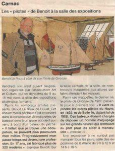 benoit le roux expo pilotes carnac 2014