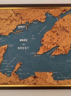 Tableau Art et Marine «Brest» liège N° 2030 – André BEAUSCHÈNE