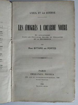 Les-Emigres-a-cocarde-noire-Bittard-des-Portes