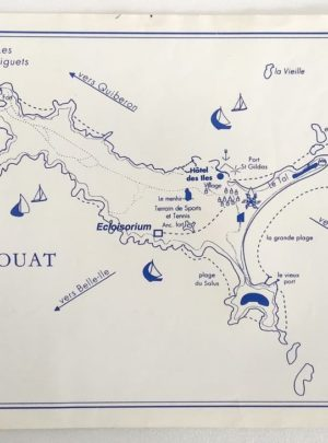 Sous-mains-carte-marine-Houat-1990
