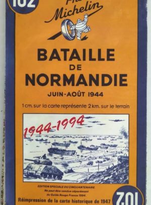 carte-michelin-102-bataille-normandie-aout-1944
