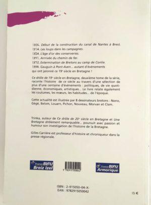 Ce drôle de 19ème siècle en Bretagne – TRINKA – CARRIÈRE