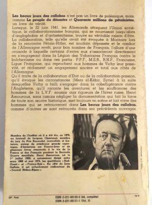 Les beaux jours des collabos Juin 1941-Juin 1942 – Henri AMOUROUX