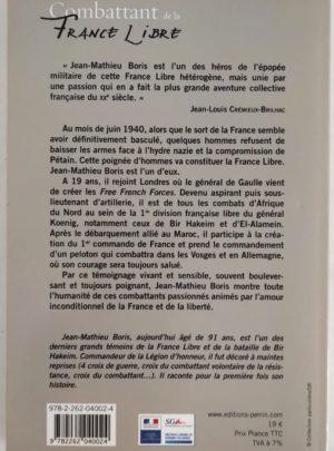 Combattant de la France libre – Jean-Mathieu BORIS