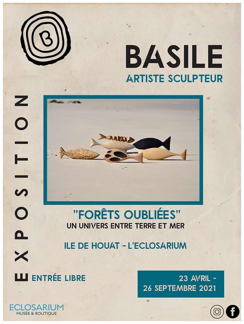 forets-oubliees-terre-mer-expo-tabouelle-sculpteur-affiche Houat-Eclosarium