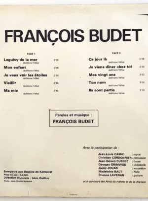 FRANÇOIS BUDET  – Loguivy De La Mer – 33T